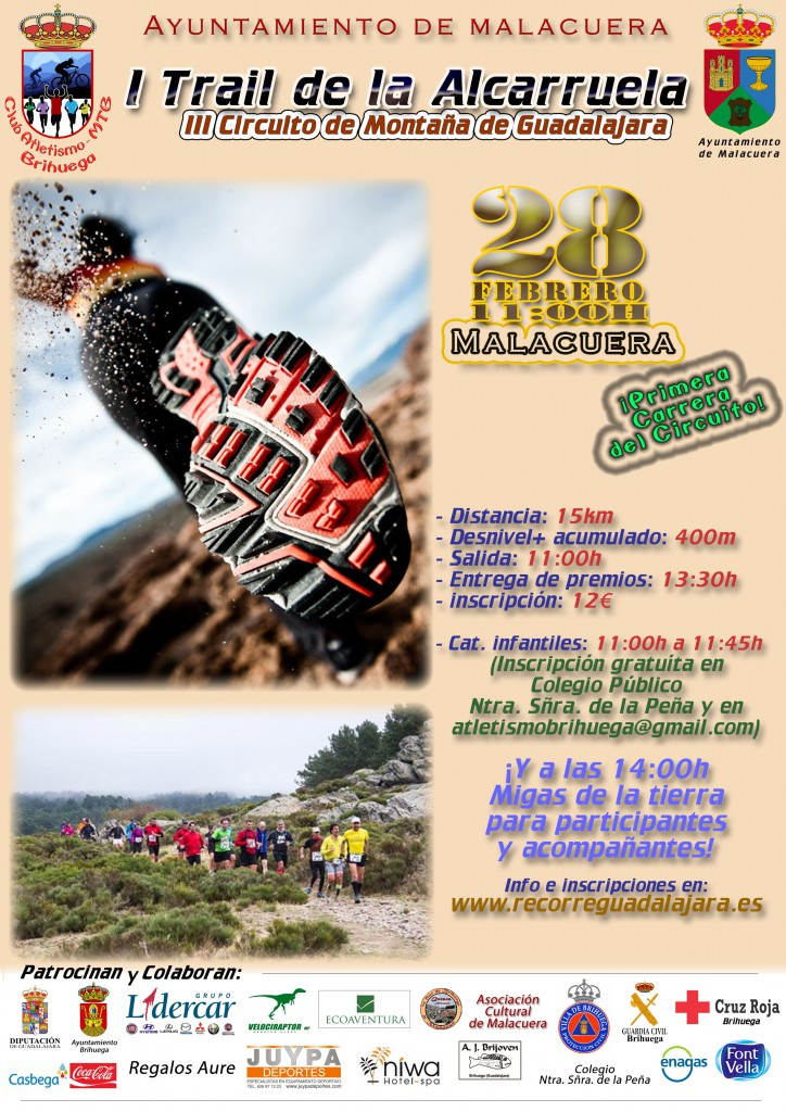 I Trail de la Alcarruela Malacuera (Brihuega) 28 02 2016