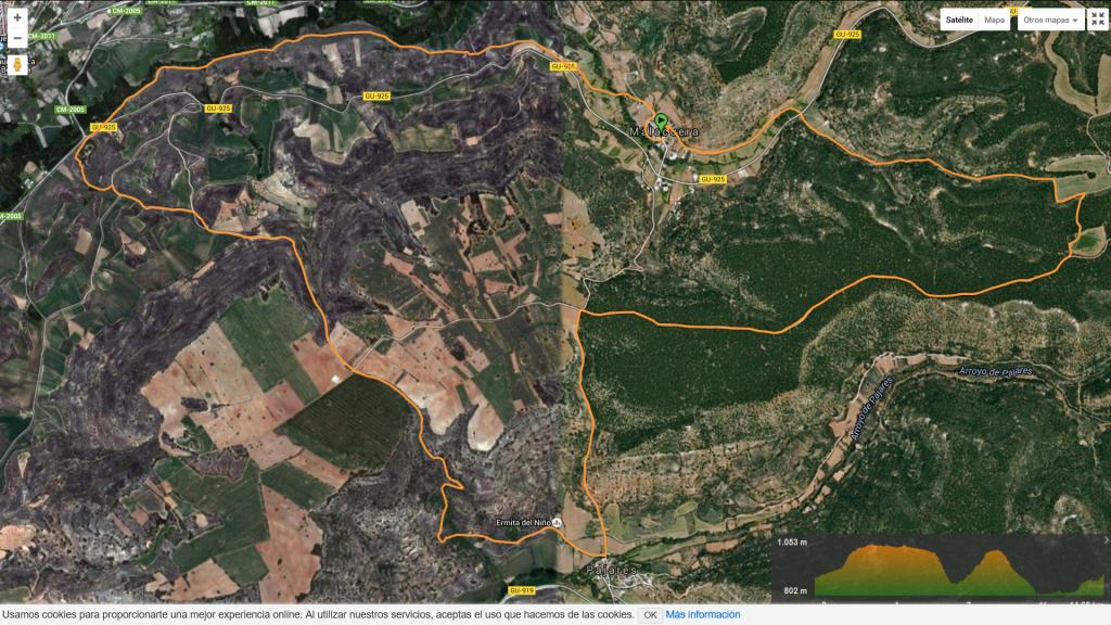 Mapa I Trail de la Alcarruela Malacuera Brihuega
