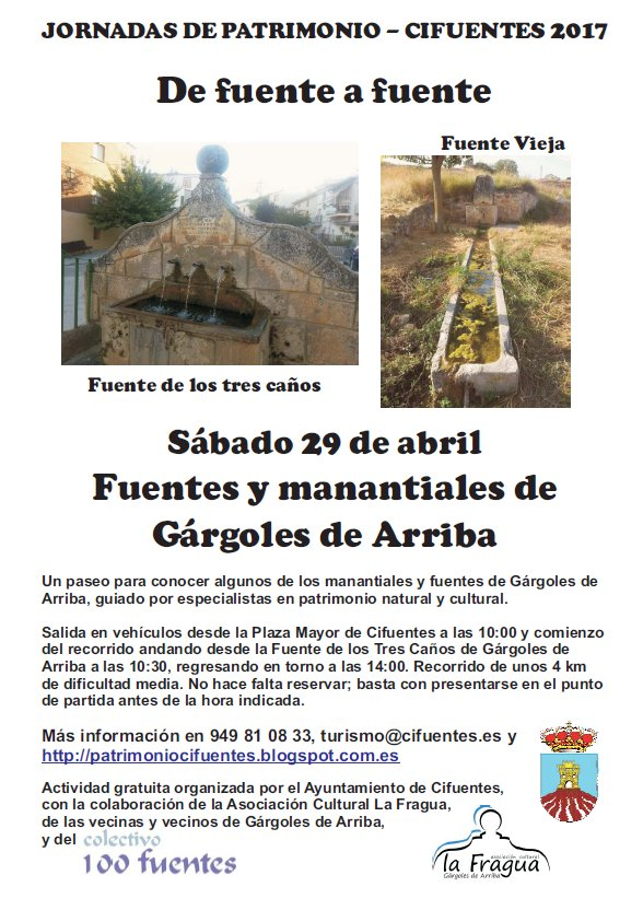 Cartel fuentes Gárgoles Arriba 29abril2017